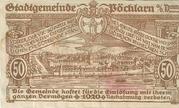 50 Heller 1920 Gutschein – revers