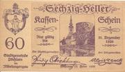 60 Heller (Pöchlarn) – avers