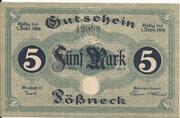 5 Mark (Pössneck) – avers