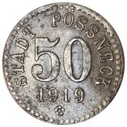 50 pfennig - Pössneck – avers