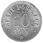 10 pfennig - Pössneck – avers