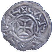 Obole de Melle (Comté de Poitou) monnayage immobilisé au nom de Charles II Le Chauve – avers