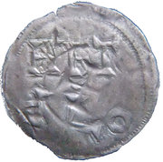 Obole de Melle (Comté de Poitou) monnayage immobilisé au nom de Charles II Le Chauve – revers