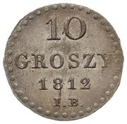 10 Groszy - Friedrich August I (I.B.) – revers
