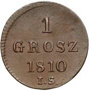 1 Grosz - Friedrich August I – revers