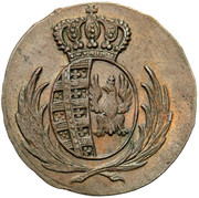 1 grosz (Principauté de Varsovie) – avers