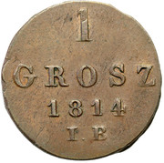 1 grosz (Principauté de Varsovie) – revers