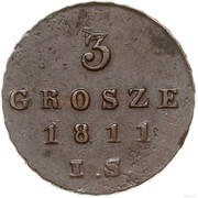 3 grosze (Principauté de Varsovie) – revers
