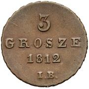3 Grosze - Friedrich August I – revers