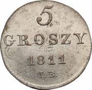 5 Groszy - Friedrich August I – revers