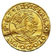 Ducat - Sigismund I – avers