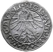 Półgrosz (Zygmunt II August) – avers