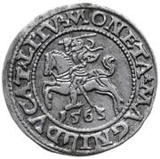 Półgrosz (Zygmunt II August) – revers