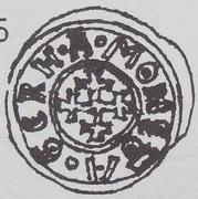 Brakteat - abbot wąchocki Gerard (Wąchock mint) – avers