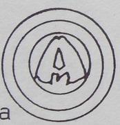 Brakteat - unknown abbot jędrzejowski (Jędrzejów mint) – avers