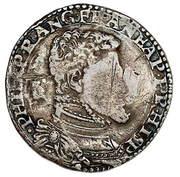 Półtalar - Zygmunt II August (Wilno mint - countermarked)) – avers