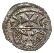 Denar- Zygmunt II August (Elbląg mint) – avers