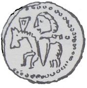 Denar - Bolesław II Śmiały (Kraków mint) – revers