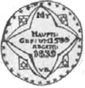 Półrosenobel gdański - Kazimierz IV Jagiellończyk (Gdańsk mint) – revers