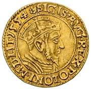 Dukat gdański - Zygmunt II August (Gdańsk mint) – avers