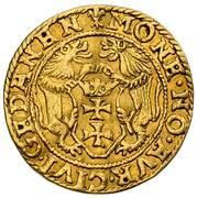 Dukat gdański - Zygmunt II August (Gdańsk mint) – revers