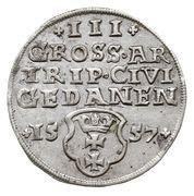 Trojak gdański - Zygmunt II August (Gdańsk mint) – revers