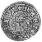 Kwartnik ruski - Kazimierz III Wielki (Lwów mint) – avers