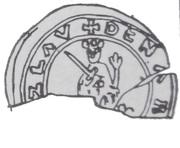 Brakteat protekcyjny - Bolesław III Krzywousty (Kraków mint) – avers