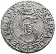 Szeląg pruski - Stefan Batory (Malbork mint) – avers
