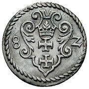 Denar - Stefan Batory (Gdańsk mint) – revers