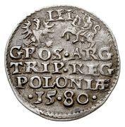 Trojak / 3 Grosze - Stefan Batory (Olkusz mint) – revers