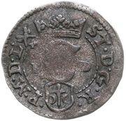 Szeląg - Stefan Batory (Poznań mint) – avers