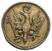 Coin weights - ducat - Stanisław August Poniatowski (Warszawa mint) -  avers
