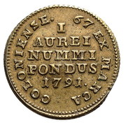 Coin weights - ducat - Stanisław August Poniatowski (Warszawa mint) -  revers