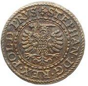 Szeląg - Stefan Batory (Gdańsk mint) – avers