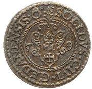 Szeląg - Stefan Batory (Gdańsk mint) – revers