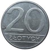 20 zlotych (petit module) -  revers
