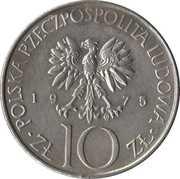 10 zlotych Mickiewicz -  avers