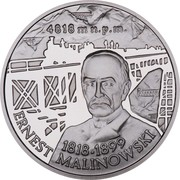 10 Zlotych (Centenary of the death of Ernest Malinowski) -  avers