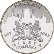 20 Złotych The 1000th anniversary of Gdańsk (997 - 1997) -  revers