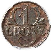 1 Grosz (Trial Strike; inverted die) – revers