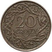 20 Groszy ( Trial Strike Brass) – revers