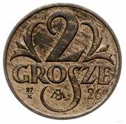 2 Grosze (Trial Strike 27/X MJ 26 under Grosze) – revers