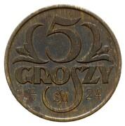5 Groszy (Trial Strike Brass) – revers