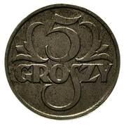 5 Groszy (Trial Strike Zn) – revers