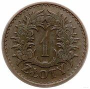 1 Złoty ( Wreath; Trial Strike B) – revers