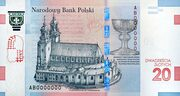20 Złotych (1050th Anniversary of the Baptism of Poland) – revers