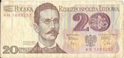 20 Zlotych – avers
