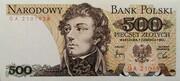 500 Zlotych – avers