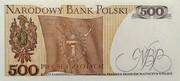 500 Zlotych – revers